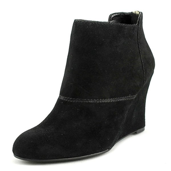 Nine West Optimistic Women Round Toe Suede Black Ankle Boot
