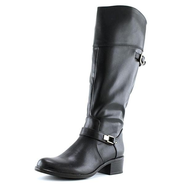 Alfani Fidoe Wide Calf Women Round Toe Synthetic Black Knee High Boot