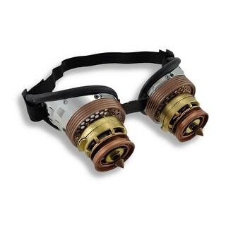 Steampunk Binocular Decorative Goggles w/ Copper Spikes