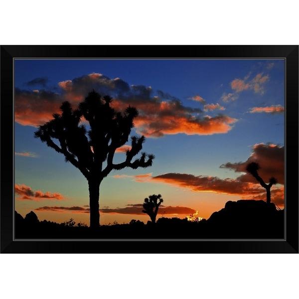 """Joshua Tree Sunset"" Black Framed Print"