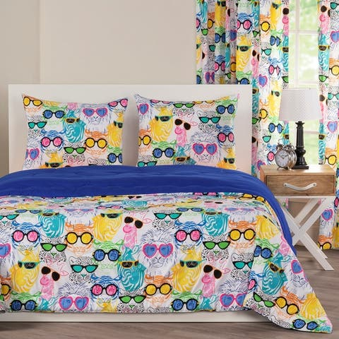 Crayola Cool Cats Comforter and Shams Set