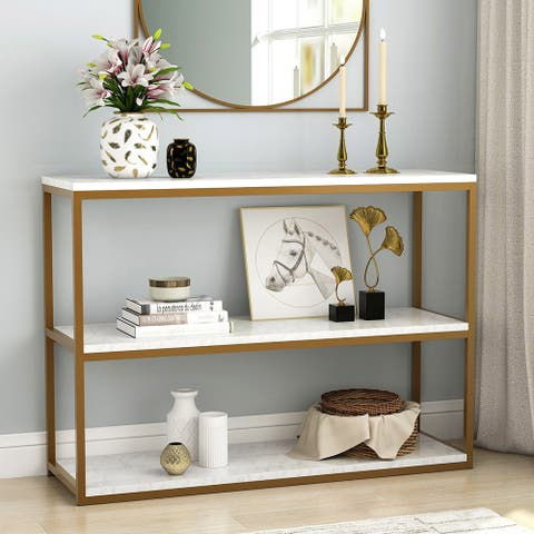 3-Tier Console Table Sofa Entry Table