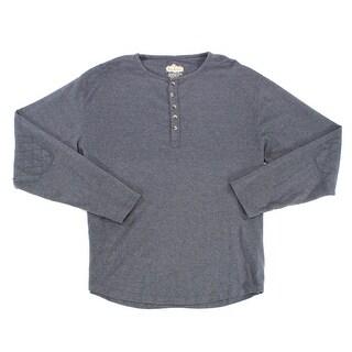Red Jacket NEW Blue Heather Mens Size XL Long Sleeve Henley Shirt