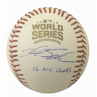 Kyle Schwarber Autographed Cubs 2016 World Series Signed Baseball MLB AUTHENTICATED CHAMPS 12