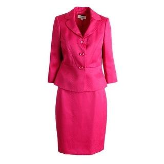 Le Suit Womens Petites English Garden Jacquard 2PC Skirt Suit