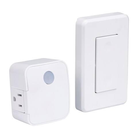 Westek RFK1600LC Toggle Wireless Light Switch, White, 120 volts