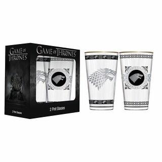 Game Of Thrones Glassware- Pint Glasses - Stark