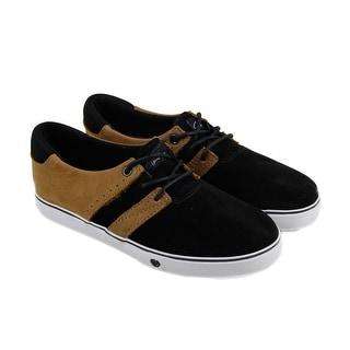 Circa Crip Mens Black Textile Lace Up Lace Up Sneakers Shoes