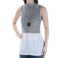 BCX $39 Womens New 1235 Black Ivory Detach Necklace Sleeveless Top S Juniors B+B