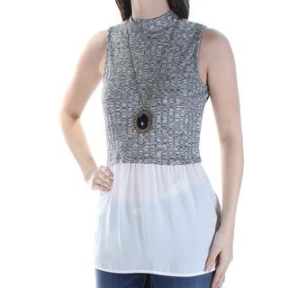 BCX $39 Womens New 1235 Black Ivory Detach Necklace Sleeveless Top S Juniors B+B