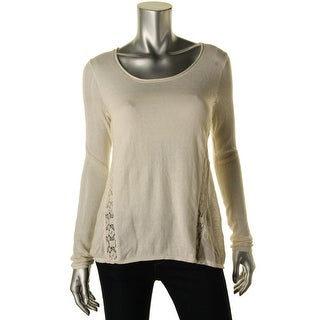 Lucky Brand Womens Cashmere Blend Lace Inset Pullover Top - XS