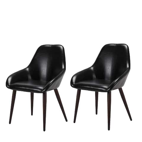 Clair Modern Dining Chair Black PU (Set of 2)
