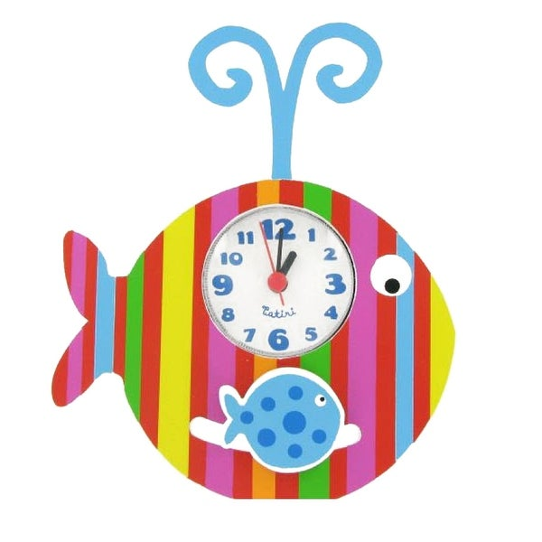 Crocodile Creek Whimsical Fish Pendulum Clock