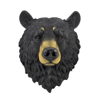 Black Bear Head Mount Wall Statue Bust