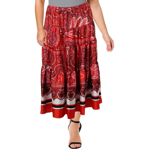 Lauren Ralph Lauren Womens Maxi Skirt Sateen Printed