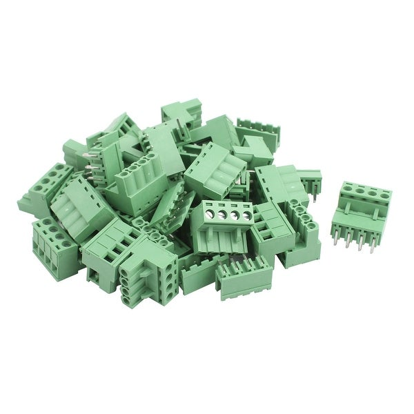 22Pairs AC 300V 10A 4 Terminal 5 08mm Spacing PCB Screw Terminal Block  Connector