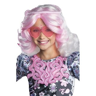 Rubies Viperine Gorgon Child Wig - White/Pink
