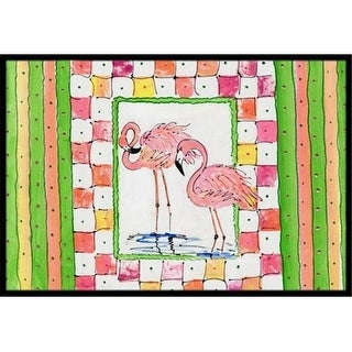 Carolines Treasures 8077JMAT 24 x 36 in. Bird - Flamingo Indoor Or Outdoor Doormat