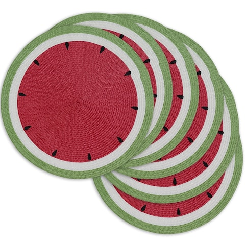 DII Summer Day Watermelon Placemats Set/6