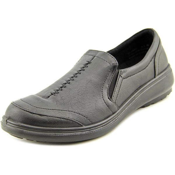Easy Street Ultimate Women Round Toe Synthetic Black Loafer