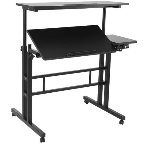 Mobile Standing Desk, Black