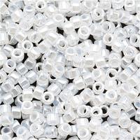 Miyuki Delica Seed Beads 11/0 Crystal White Ceylon DB231 7.2 Grams