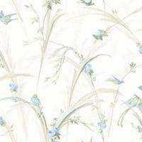 Brewster MEA19326 Cheshire Blue Meadowlark Trail Wallpaper