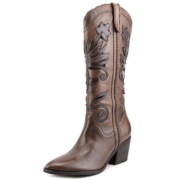Carlos by Carlos Santana Womens Ace Leather Closed Toe Mid-Calf Cowboy Boots