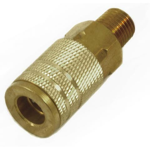 "Forney 75316 Air Fitting Coupler, 1/4"" x 1/4"" Male NPT"