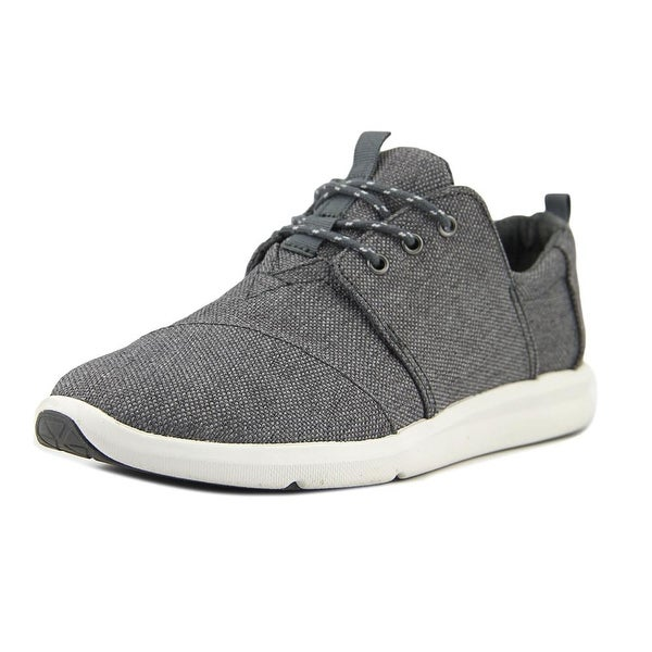 Toms Del Rey Women Round Toe Canvas Gray Sneakers