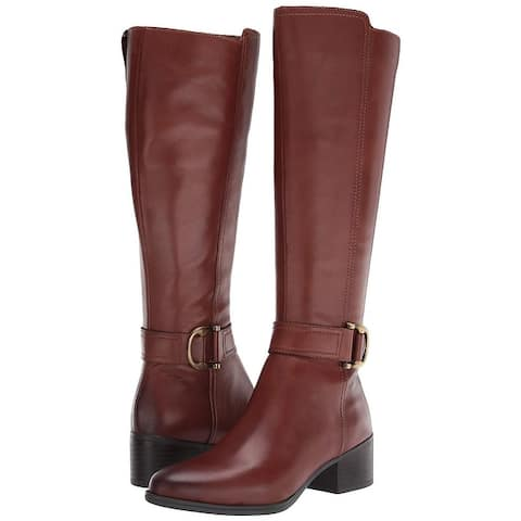 Naturalizer Womens Kelso Almond Toe Knee High Fashion Boots