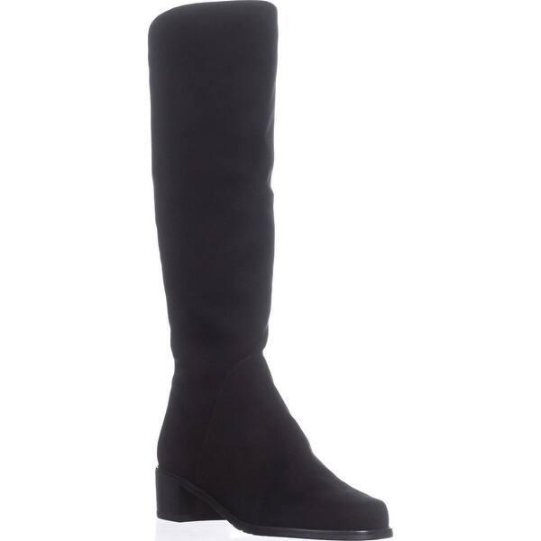9809d9fd55e4 Shop Stuart Weitzman Villepentagon Knee High Boots, Black Suede ...