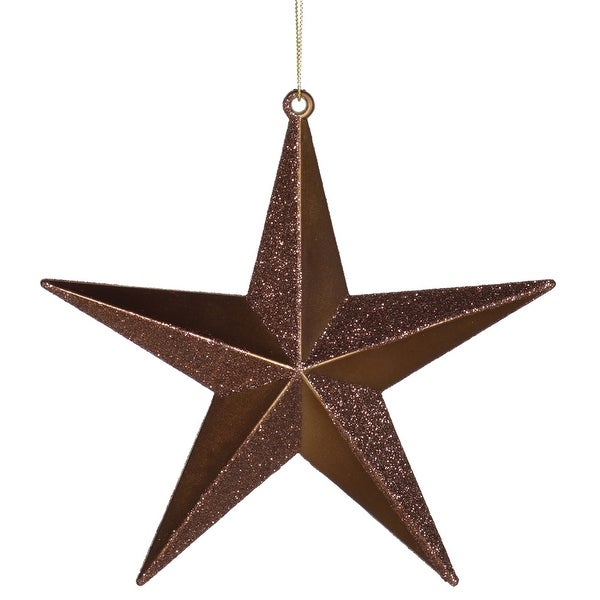 "6"" Chocolate Glitter Star"