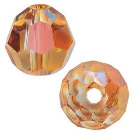 Swarovski Elements Crystal, 5000 Round Beads 8mm, 8 Pieces, Crystal Copper