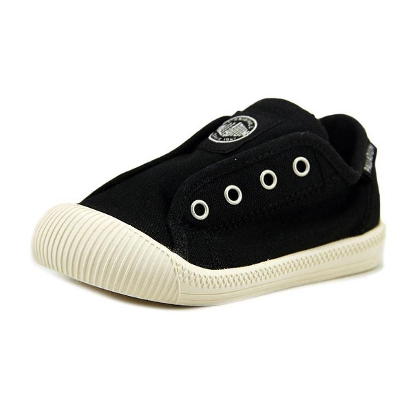 Palladium Flex Slip-on To Round Toe Canvas Sneakers