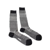 Missoni GM00CMU4655 0005 Gray/Black Knee Length Socks - Grey