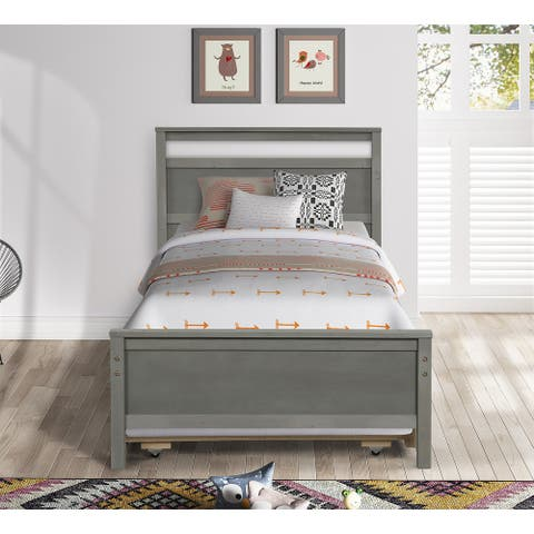 TiramisuBest TWin SLEIGH BED BRUSHED WITH TRUNDLE