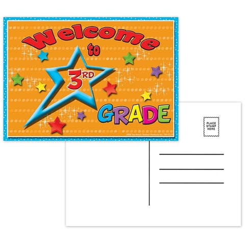 (12 Pk) Postcards Welcome to 3Rd Grade