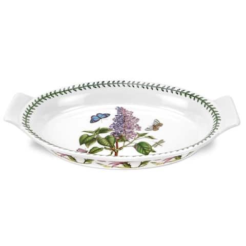 Portmeirion Botanic Garden Large Oval Gratin Dish (Lilac) - Multicolor - 12.5 inch / 1 quart