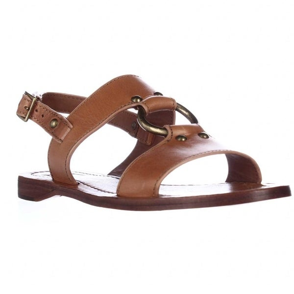 FRYE Rachel Harness Flat Sandals, Tan - 6.5 us