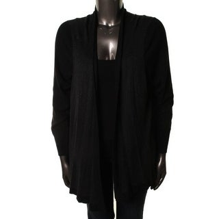 Eileen Fisher Womens Plus Heathered Angled Front Cardigan Sweater - 1X