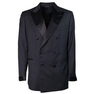 Tom Ford Mens Black Wool Double Breasted Shelton Tuxedo - 46 r