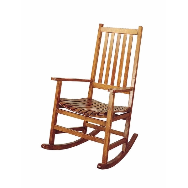 Traditional Wooden Porch Rocking Chair, Warm Brown