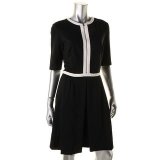 Lauren Ralph Lauren Womens Wear to Work Dress Elbow Sleeves Knee-Length