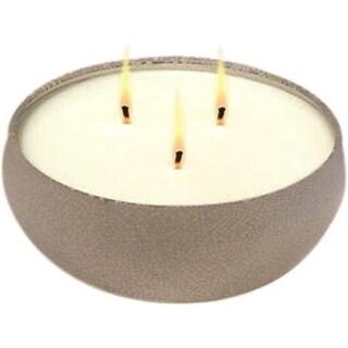 Tiki 1414117 Ceramic Crackle Triple Wick Citronella Candle