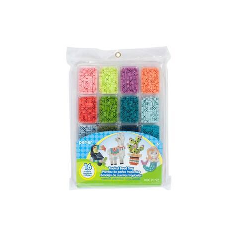 Perler Fused Bead Tray Tropical - Medium