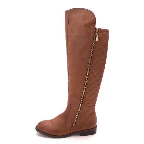 New Directions Womens Gwyneth Almond Toe Knee High Fashion Boots