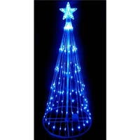 4 ft. Blue LED Light Show Cone Christmas Tree Lighted Yard Art