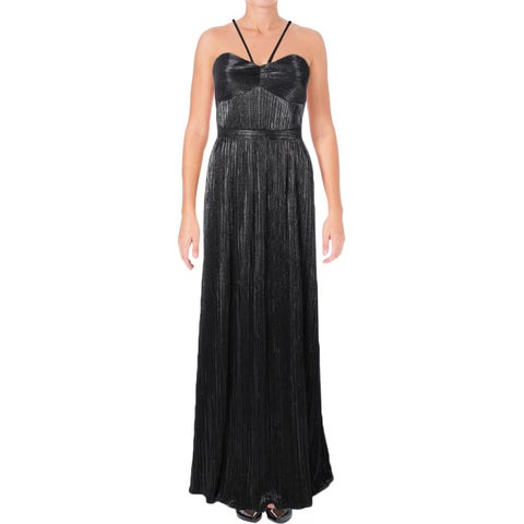 Laundry by Shelli Segal Womens Formal Dress Pleated Metallic