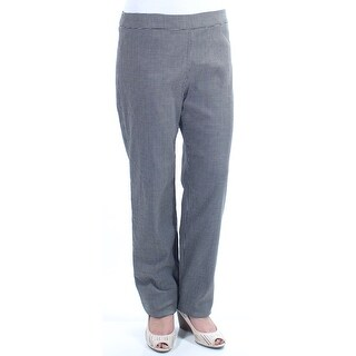 ARMANI $645 Womens New 6293 Black Houndstooth Straight leg Pants 10 B+B